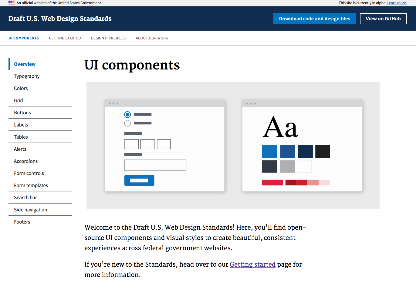 The Draft U.S. Web Design Standards are the design system for the United States federal government.