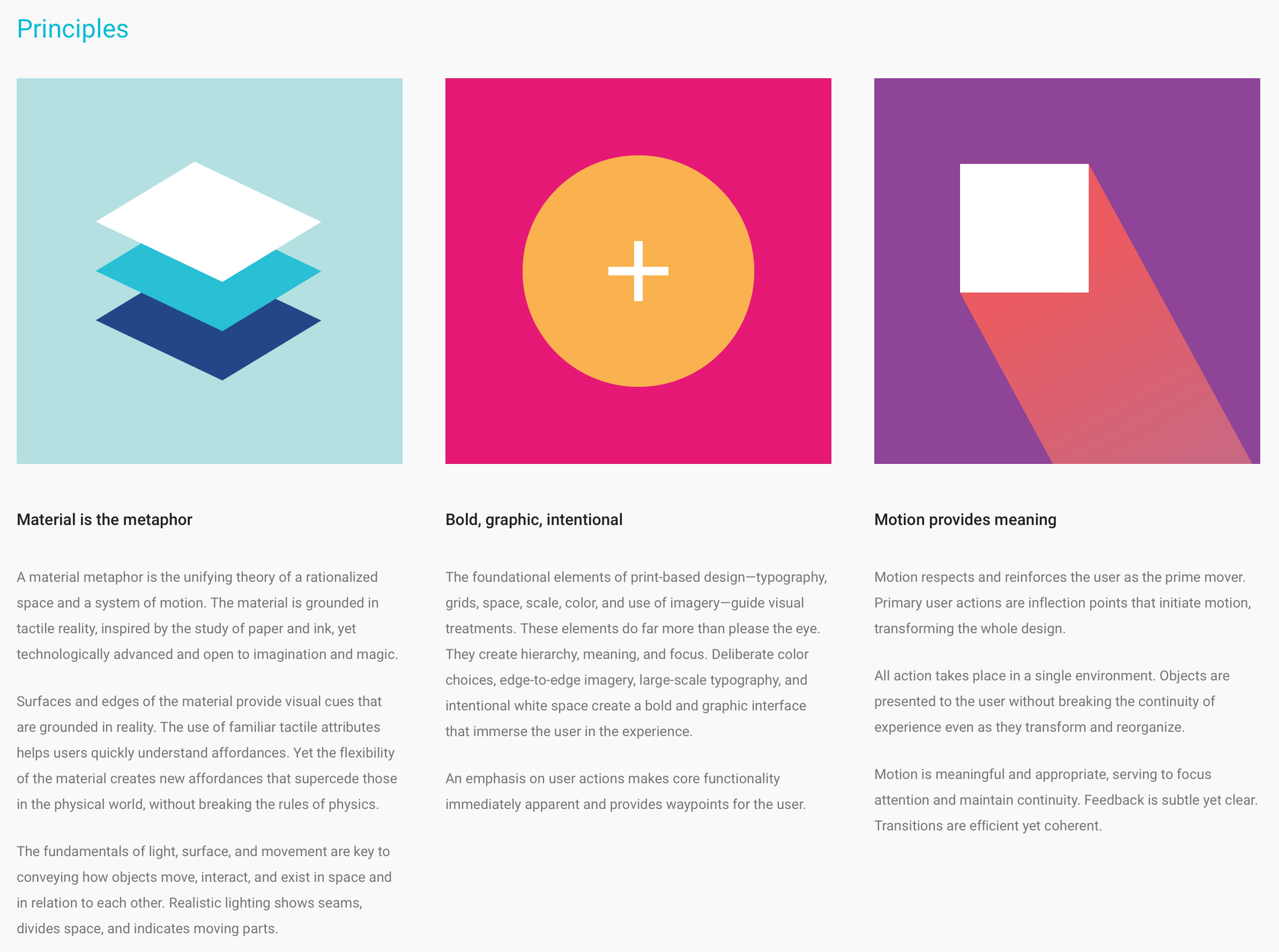 Google's material design language.